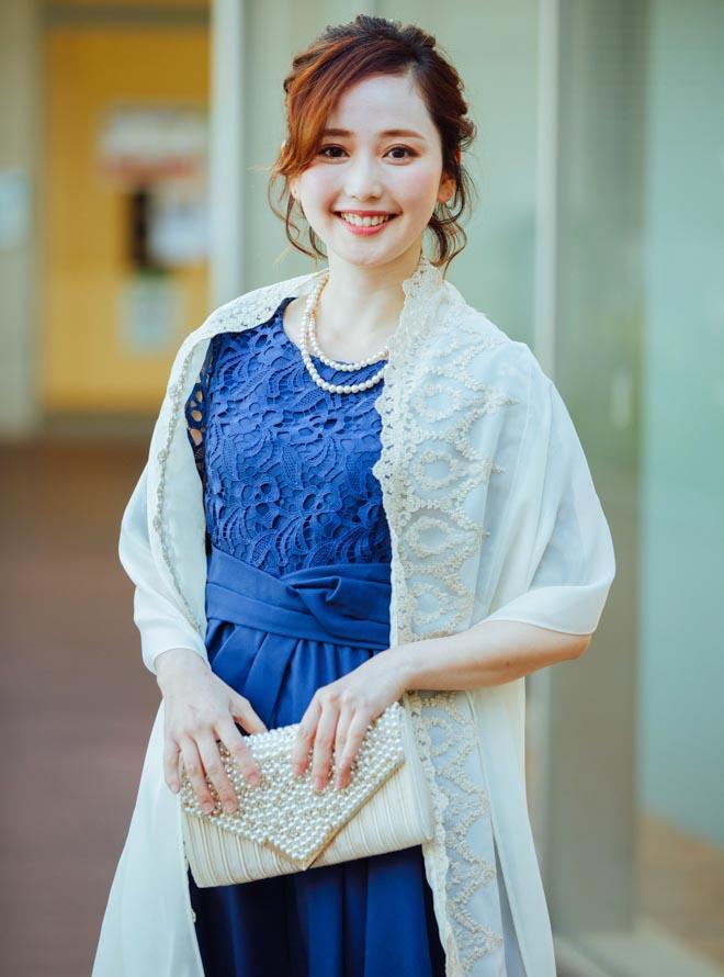 【4点セット】ドレス&羽織,バック,ネックレス M