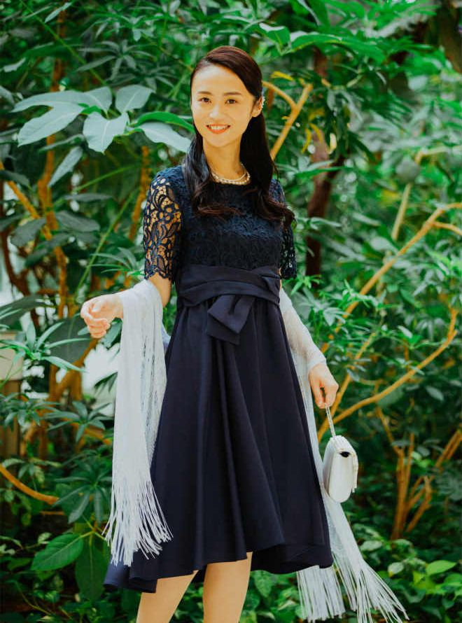 【レンタル】《Web限定特価》[L] 4点セット(ドレス&羽織・バック・ネックレス )