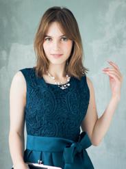 【レンタル】[M] ノースリーブ胸コード刺繍ワンピース グリーン