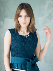 [M] ノースリーブ胸コード刺繍ワンピース グリーン