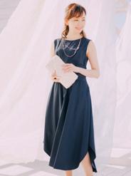 【レンタル】[M] アクセサリー付フィッシュテールワンピース