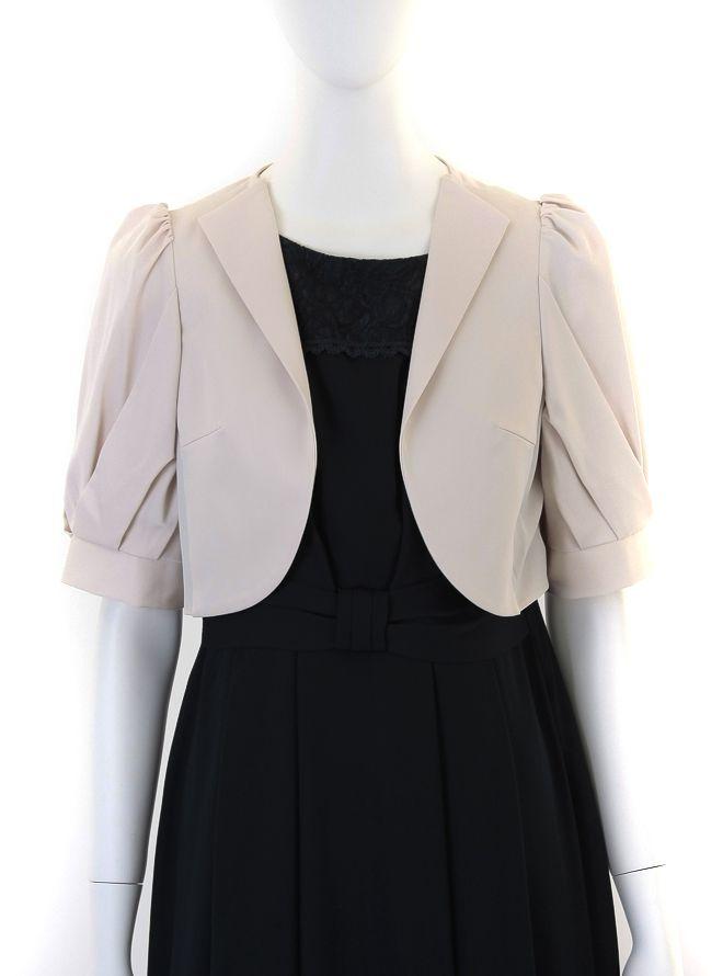 [M] 五分袖襟付きジャケット