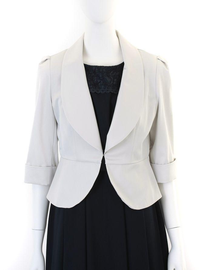 【レンタル】[M] 七分袖襟付きジャケット