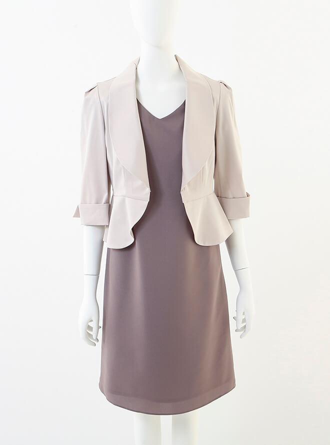 [L] 七分袖襟付きジャケット