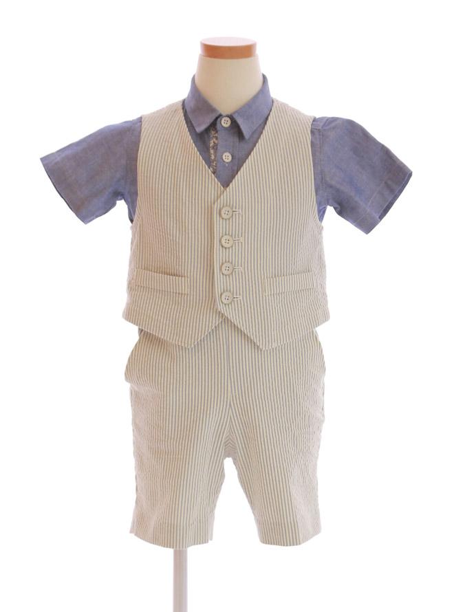 【レンタル】[90cm] 男児用スーツ002 ミックス