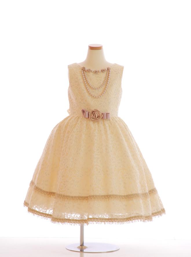 [120cm] 女児用ドレス019 オフシロ