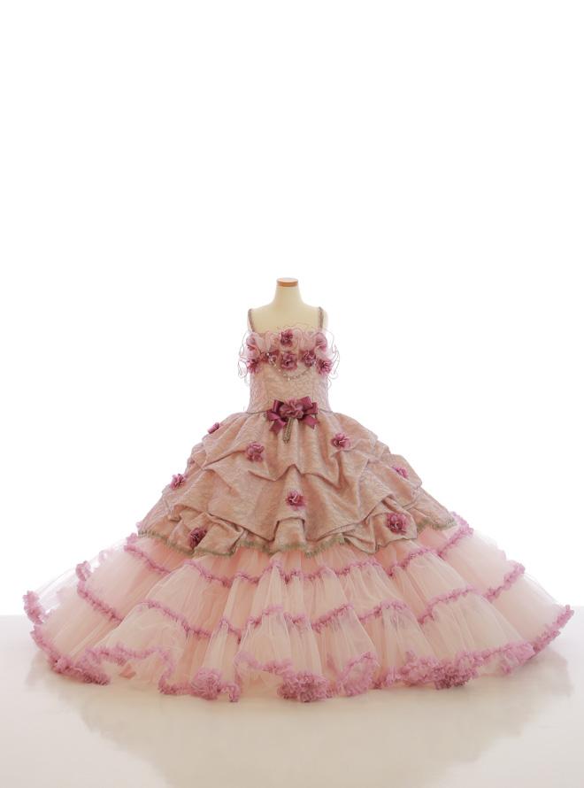 [140cm] 女児用ドレス032 ピンク