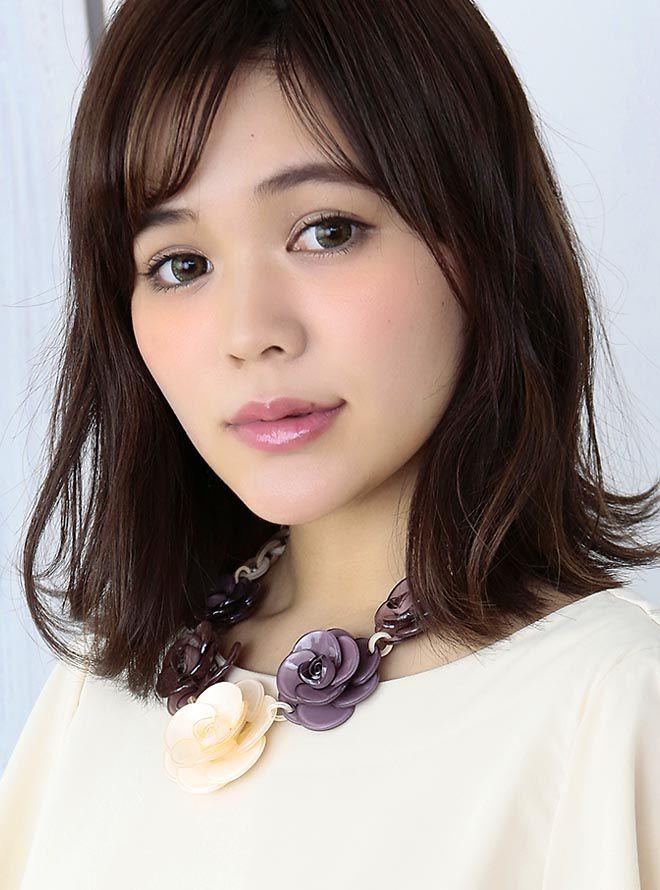 【レンタル】お花モチーフネックレス47cm/花4cm~6cm ベージュ